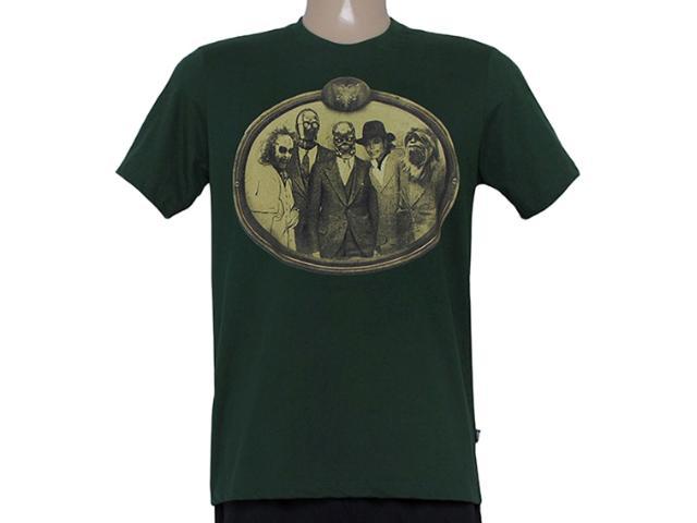 Camiseta Masculina Cavalera Clothing 01.01.8420 Verde Militar
