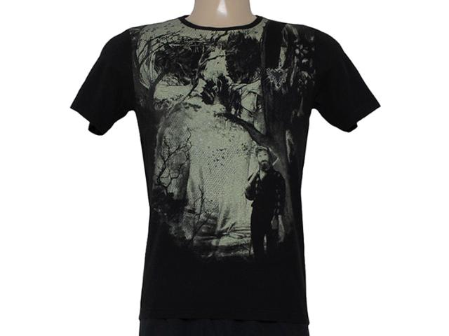 Camiseta Masculina Cavalera Clothing 01.01.8310 Preto