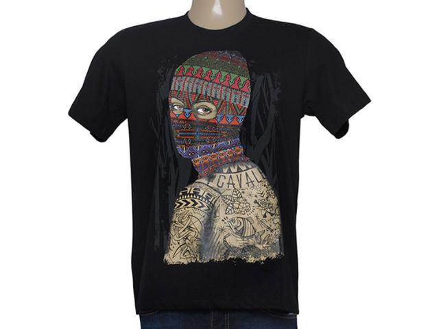 Camiseta Masculina Cavalera Clothing 01.01.8627 Preto