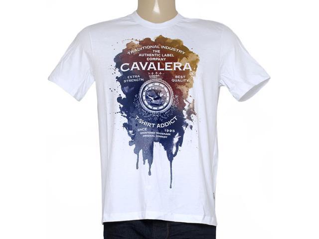Camiseta Masculina Cavalera Clothing 01.01.8748 Branco
