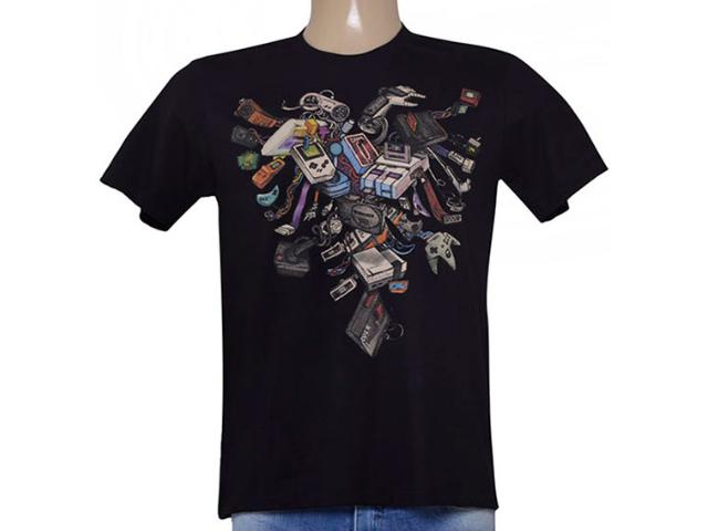 Camiseta Masculina Cavalera Clothing 01.01.9046 Preto