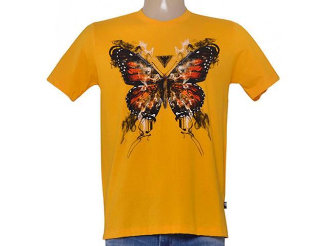Camiseta Masculina Cavalera Clothing 01.01.8686 Amarelo Mostarda