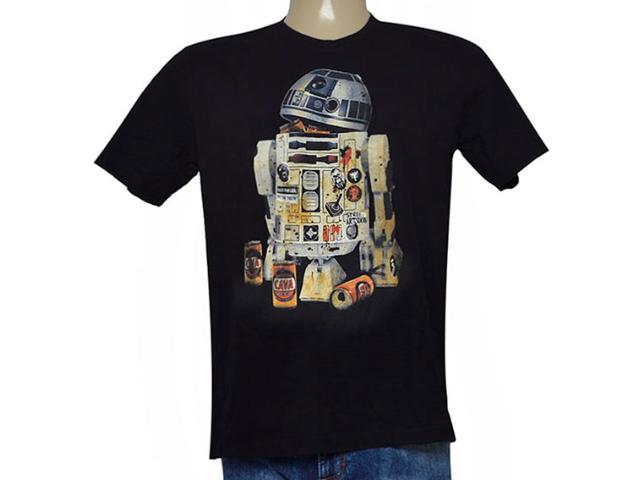 Camiseta Masculina Cavalera Clothing 01.01.8956 Preto
