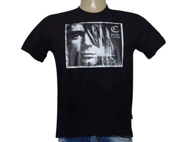 Camiseta Masculina Cavalera Clothing 01.01.8917 Preto