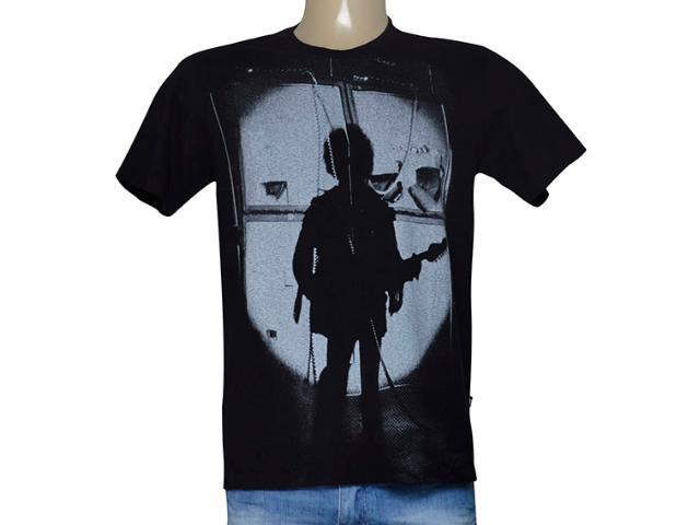 Camiseta Masculina Cavalera Clothing 01.01.9272 Preto