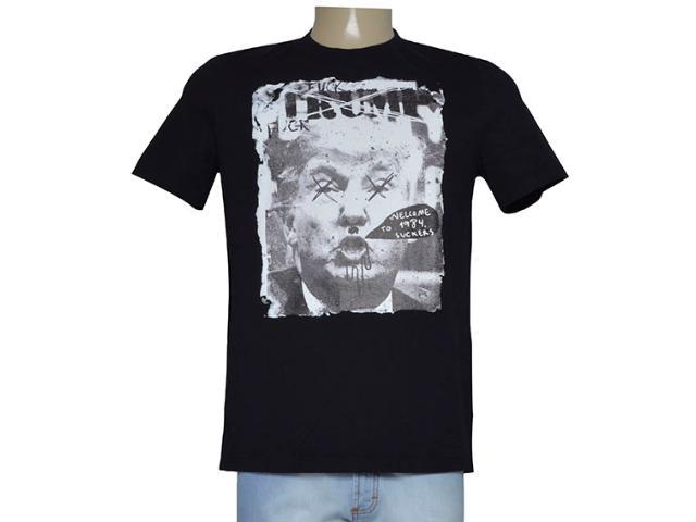 Camiseta Masculina Cavalera Clothing 01.01.9494 Preto Estampado
