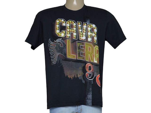 Camiseta Masculina Cavalera Clothing 01.01.9182 Preto Estampado