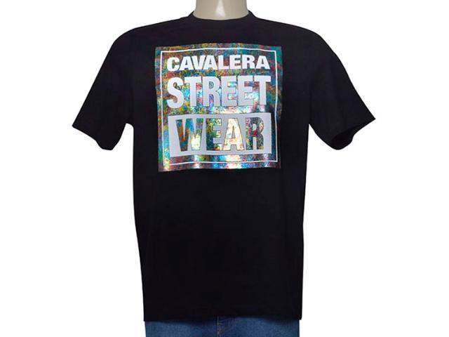 Camiseta Masculina Cavalera Clothing 01.01.9605 Preto