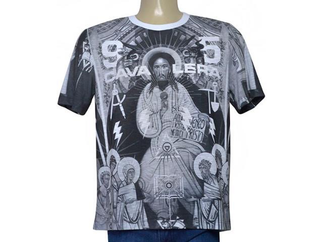 Camiseta Masculina Cavalera Clothing 01.01.9680 Branco Estampado