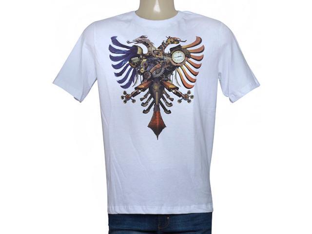 Camiseta Masculina Cavalera Clothing 01.01.9626 Branco