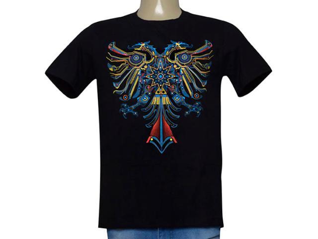 Camiseta Masculina Cavalera Clothing 01.01.9968 Preto
