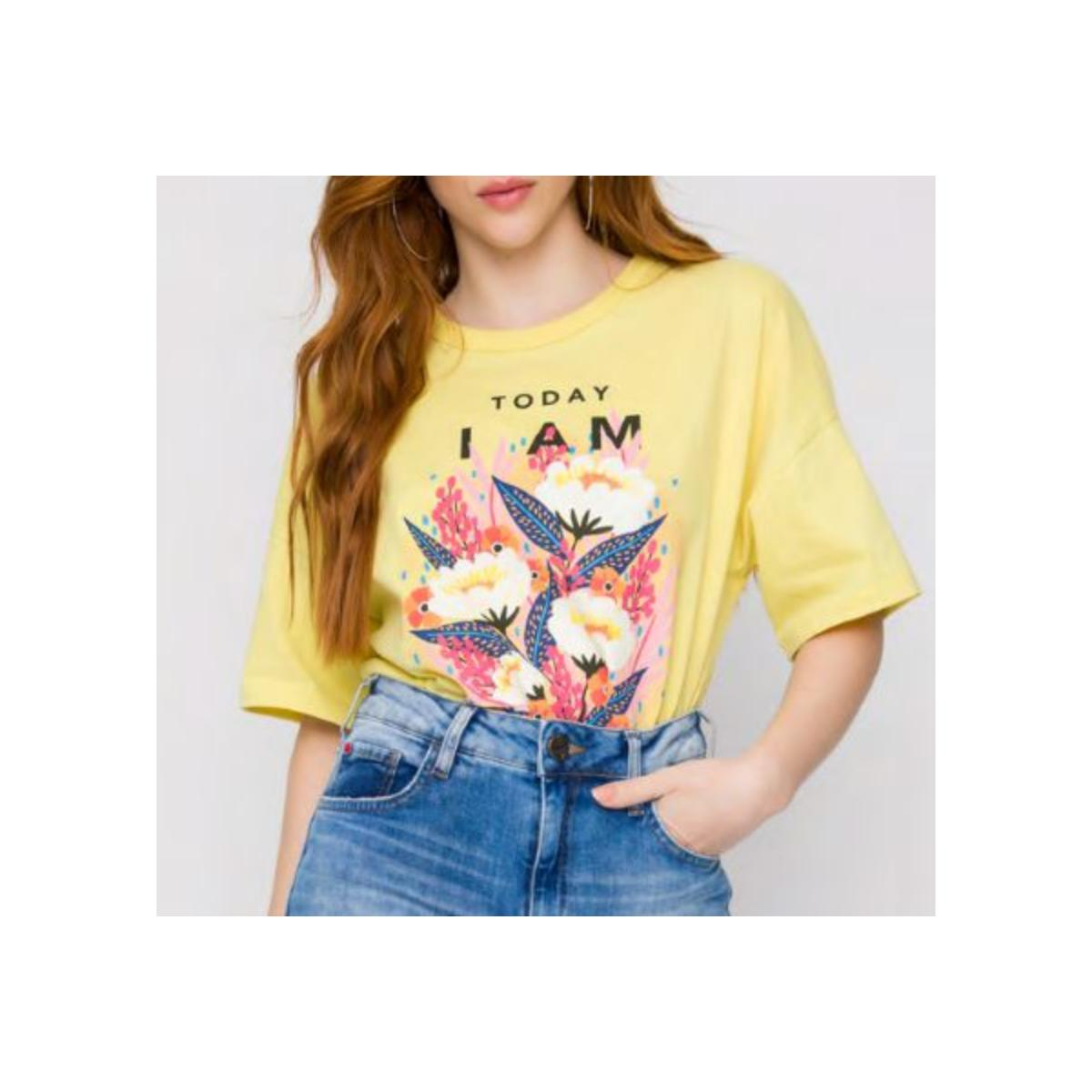 Camiseta Feminina Coca-cola Clothing 343203335 53686 Amarelo