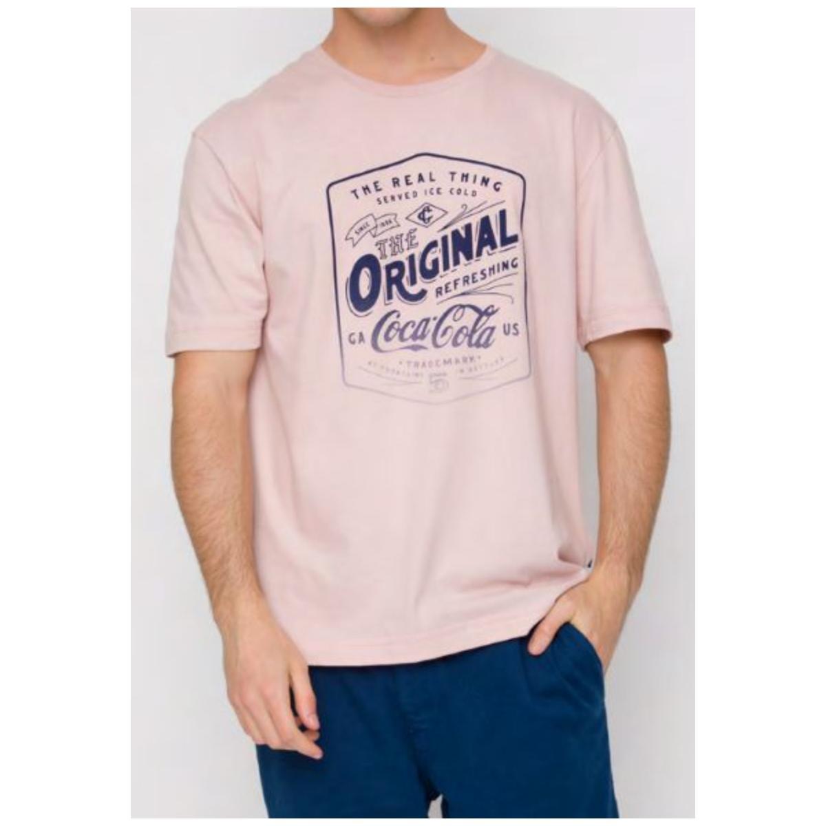 Camiseta Masculina Coca-cola Clothing 353207439 44160 Rosa