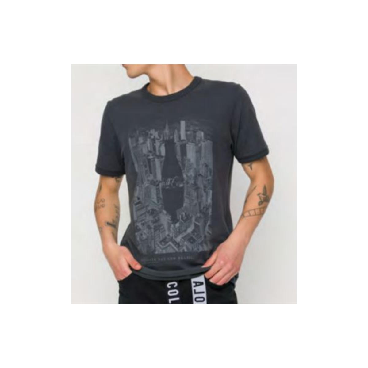 Camiseta Masculina Coca-cola Clothing 353207447 63443 Chumbo