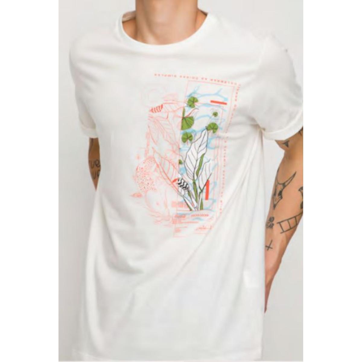 Camiseta Masculina Coca-cola Clothing 353207464 58529 Off White