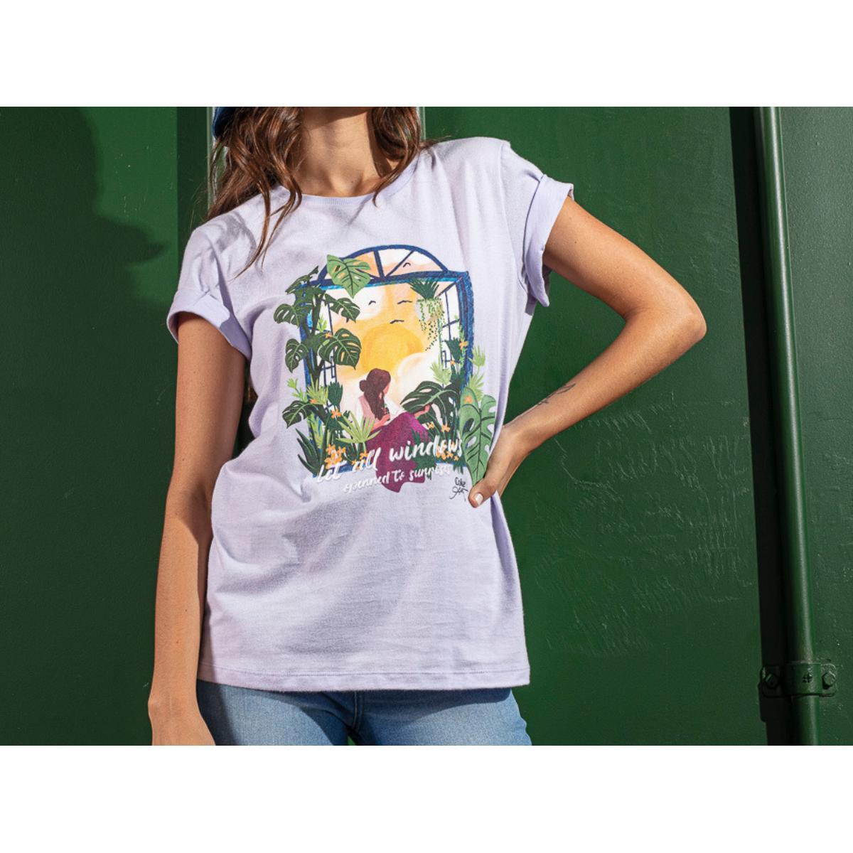 Camiseta Feminina Coca-cola Clothing 343203450 44130 Lilas