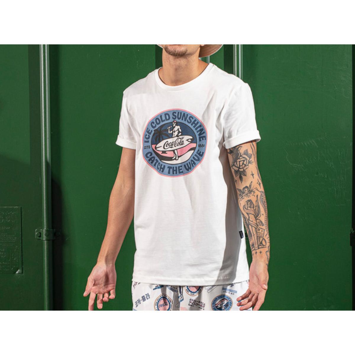Camiseta Masculina Coca-cola Clothing 353207574 58529 Off White