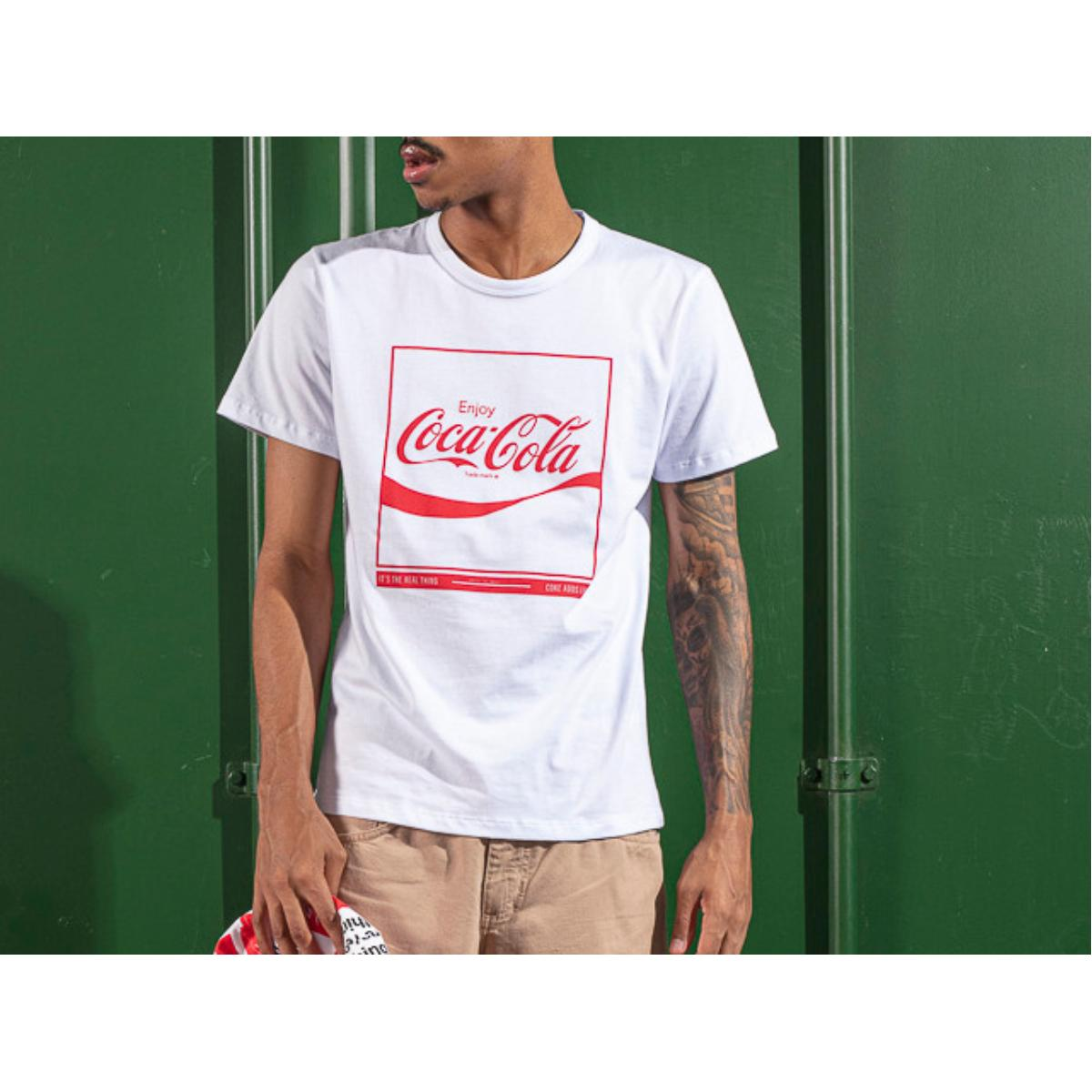Camiseta Masculina Coca-cola Clothing 353207576 001 Branco