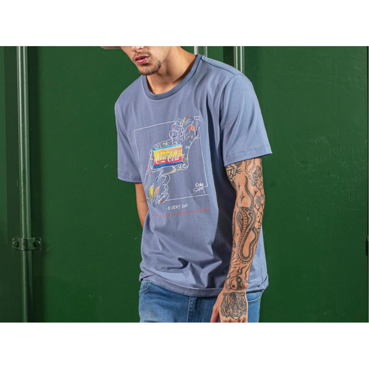 Camiseta Masculina Coca-cola Clothing 353207590 33865 Azul