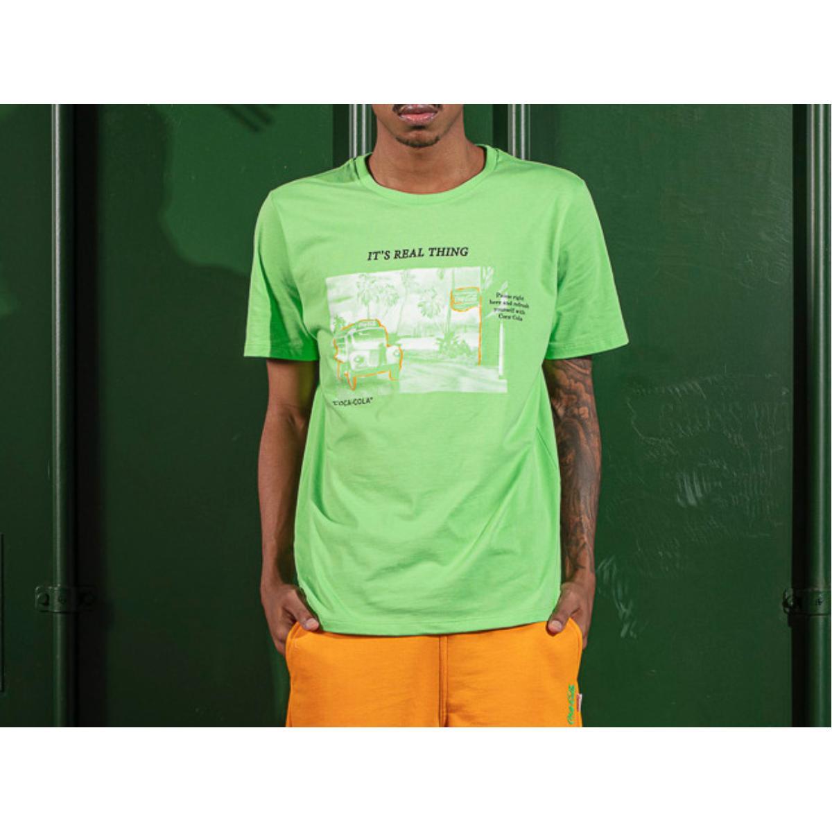 Camiseta Masculina Coca-cola Clothing 353207594 38949 Verde