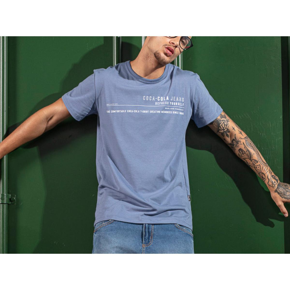 Camiseta Masculina Coca-cola Clothing 353207604 33865 Azul
