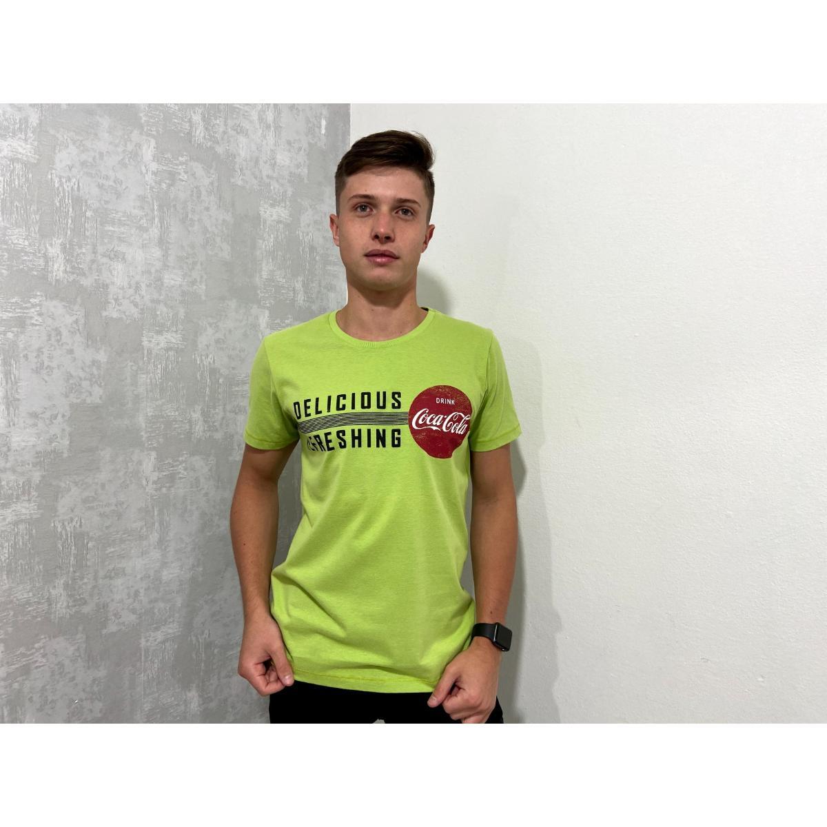 Camiseta Masculina Coca-cola Clothing 353206316 Verde