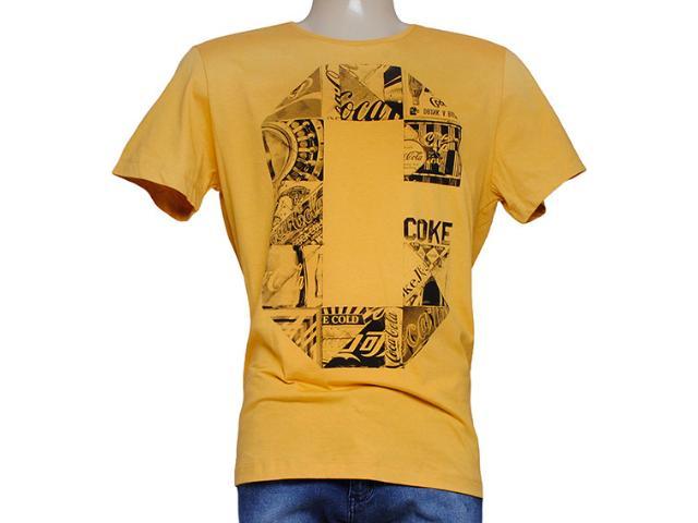 Camiseta Masculina Coca-cola Clothing 353204299 Mostarda