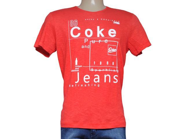 Camiseta Masculina Coca-cola Clothing 353204364 Vermelho