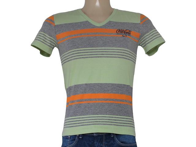 Camiseta Masculina Coca-cola Clothing 353203739 Mescla/verde