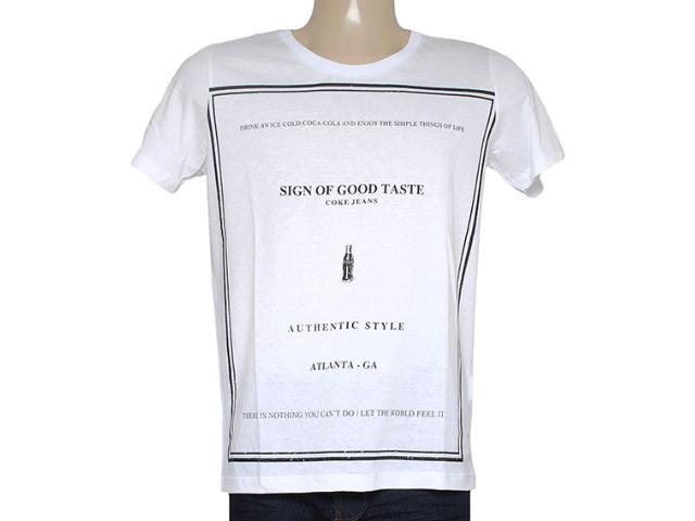 Camiseta Masculina Coca-cola Clothing 353204817 Branco