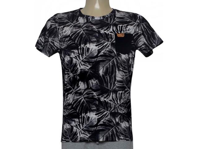 Camiseta Masculina Coca-cola Clothing 353205629 Var1 Preto/branco