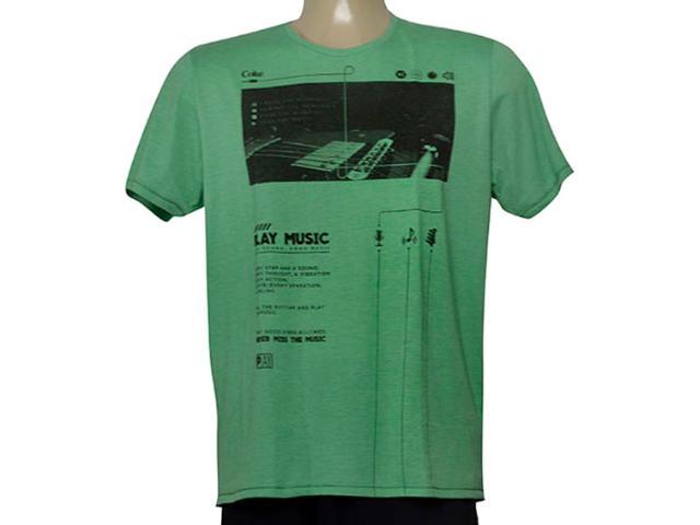 Camiseta Masculina Coca-cola Clothing 355200245 Verde