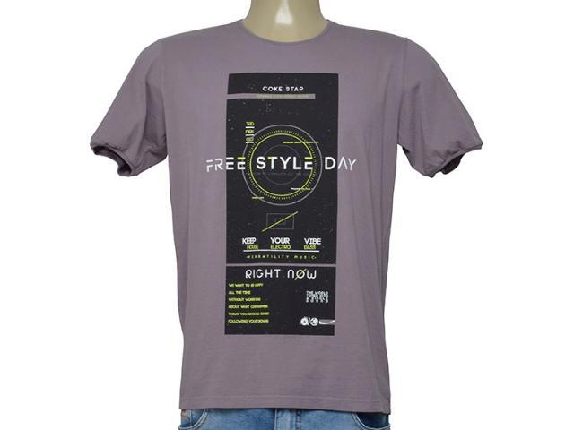 Camiseta Masculina Coca-cola Clothing 355200309 Lilas Escuro