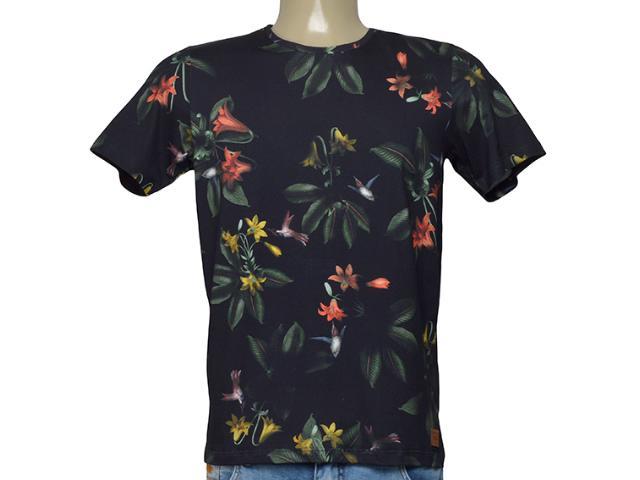 Camiseta Masculina Coca-cola Clothing 353206233 Vb4 Preto/floral