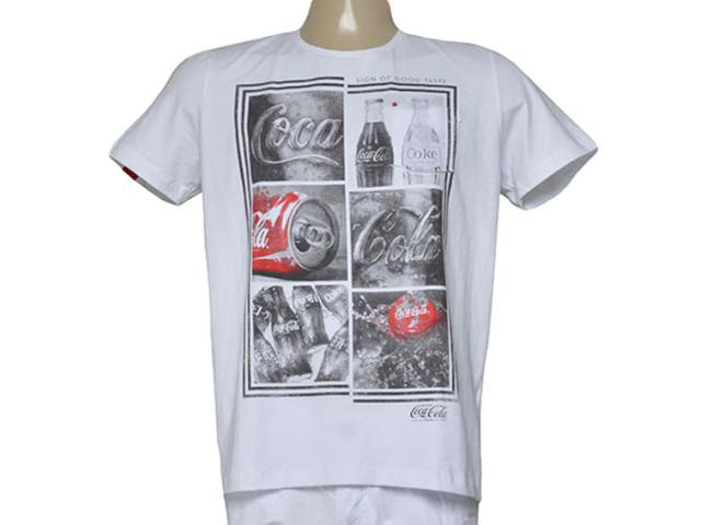 Camiseta Masculina Coca-cola Clothing 353205271 Branco