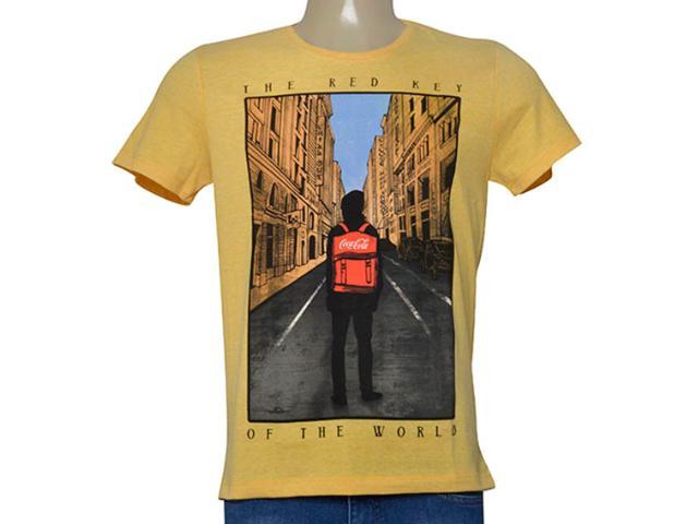 Camiseta Masculina Coca-cola Clothing 353205479 Amarelo