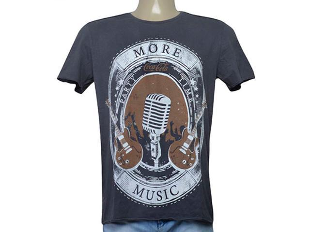 Camiseta Masculina Coca-cola Clothing 355200205 Grafite