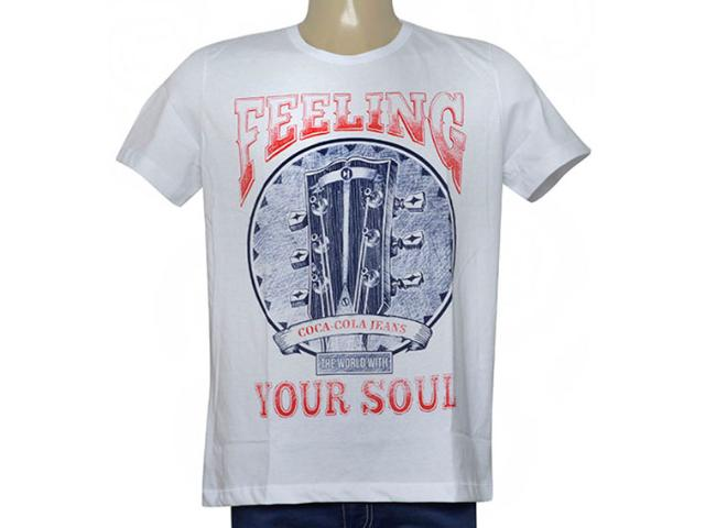 Camiseta Masculina Coca-cola Clothing 355200241 Branco