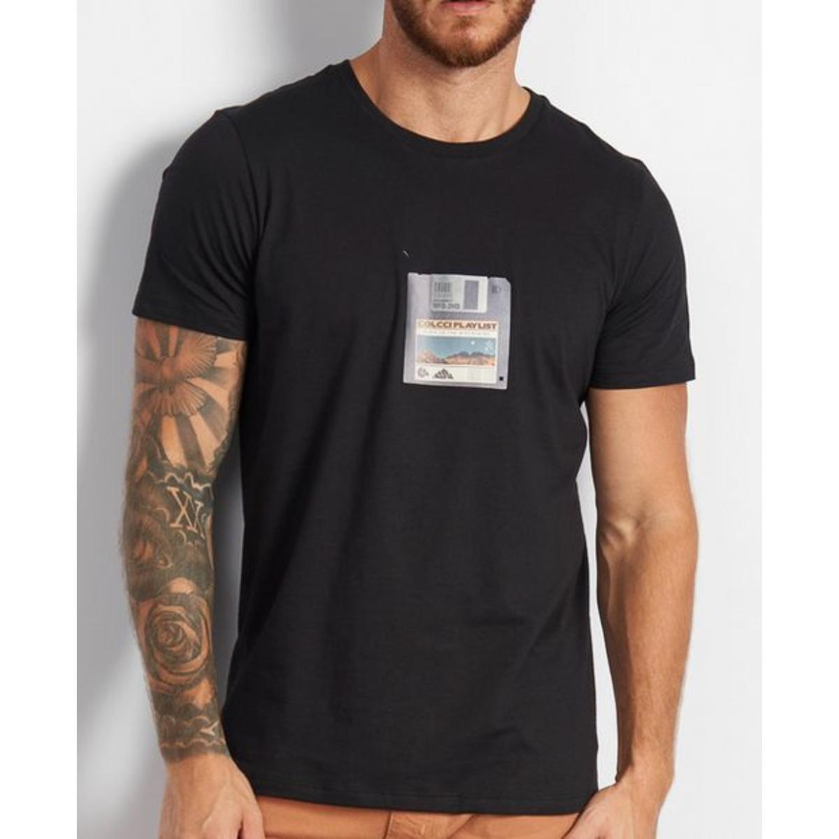 Camiseta Masculina Colcci 350109366 0050 Preto