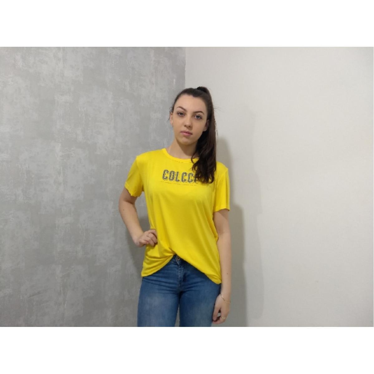 Camiseta Feminina Colcci 340104297 53672 Amarelo