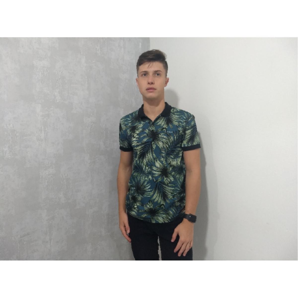 Camiseta Masculina Colcci 250102460 Vc80 Preto Estampado