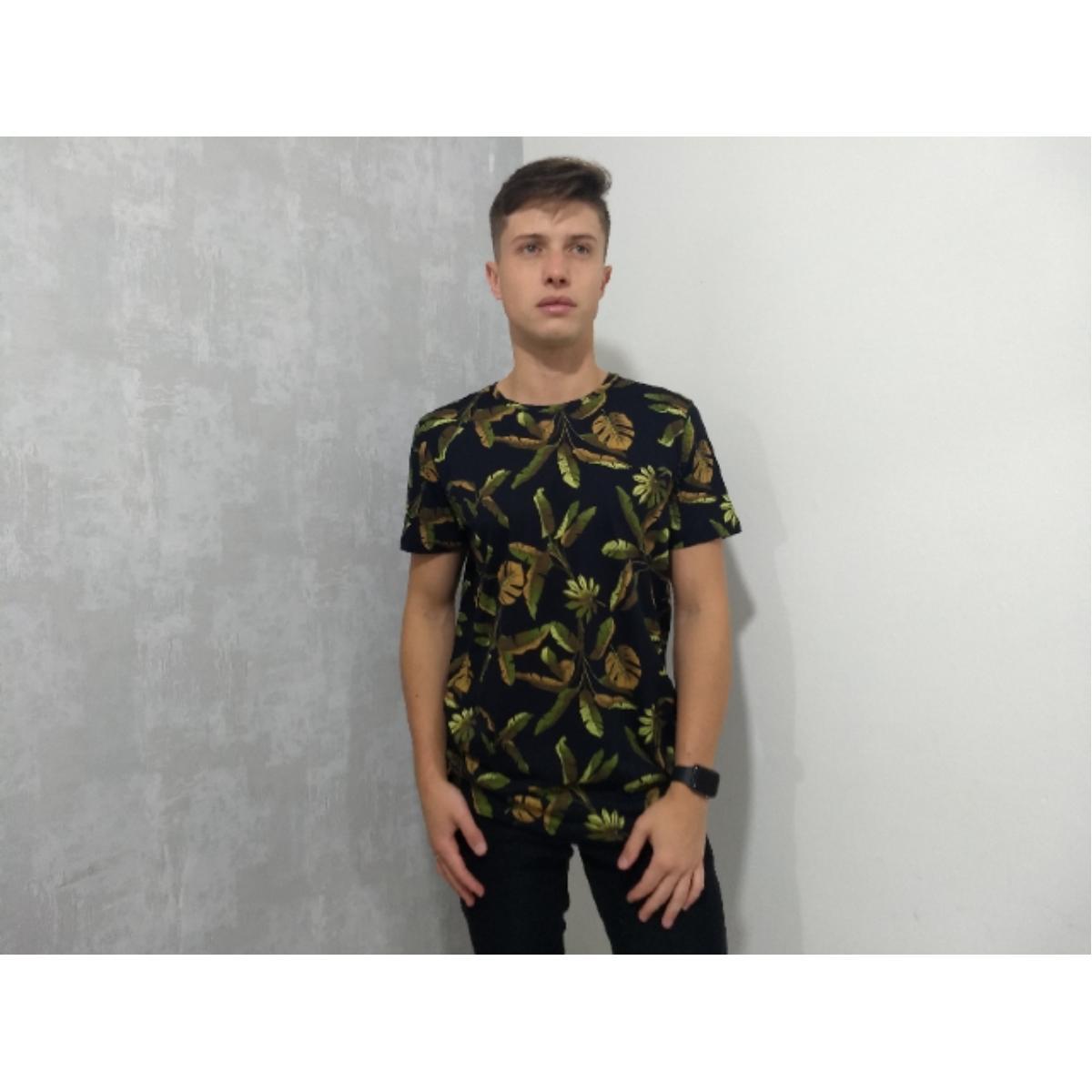 Camiseta Masculina Colcci 350108669 Vc28 Preto Floral