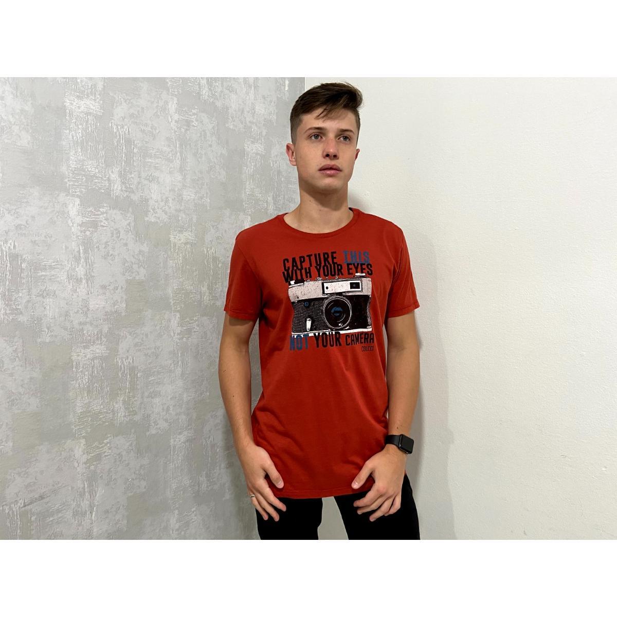 Camiseta Masculina Colcci 350108609 48335 Vermelho