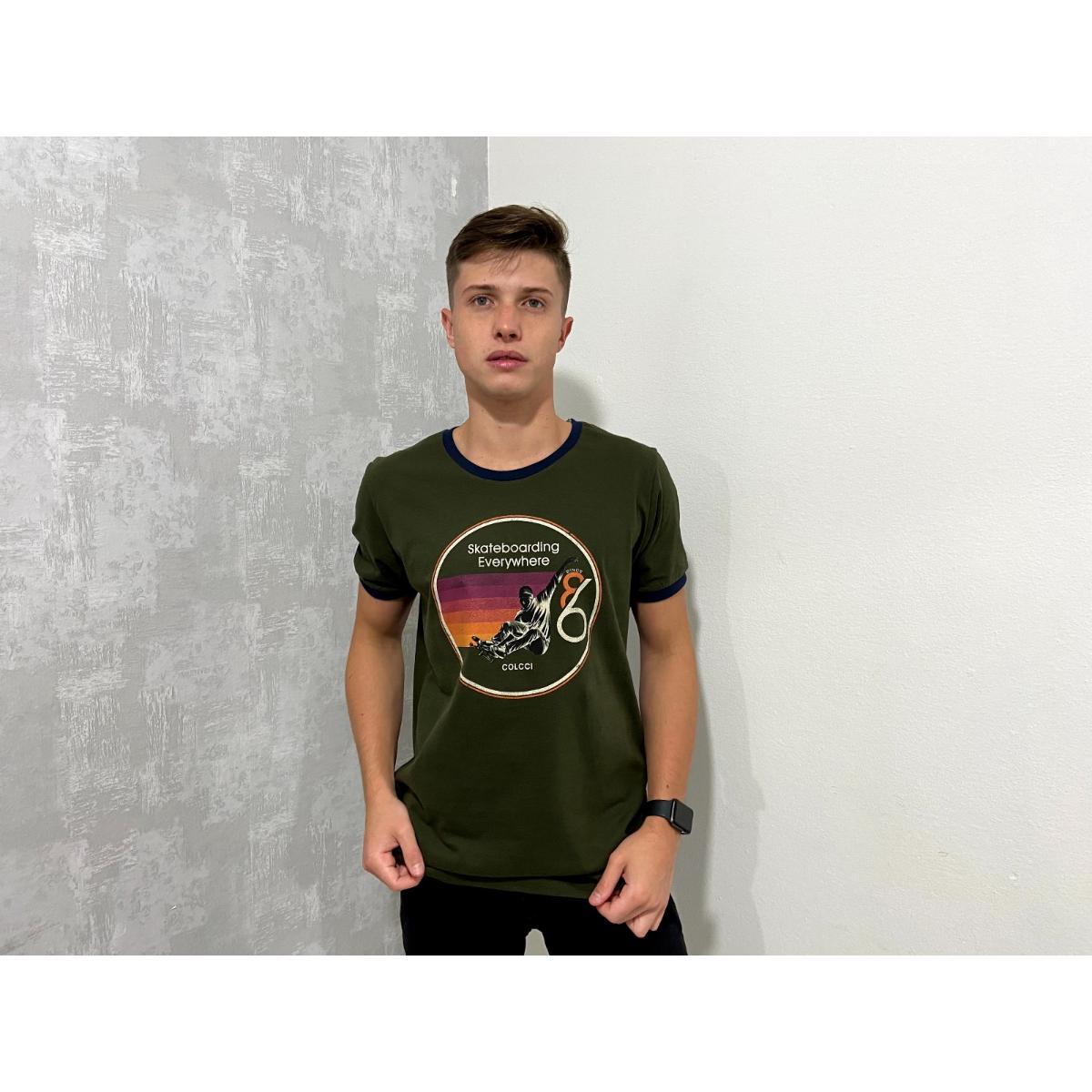 Camiseta Masculina Colcci 350108233 38930 Verde