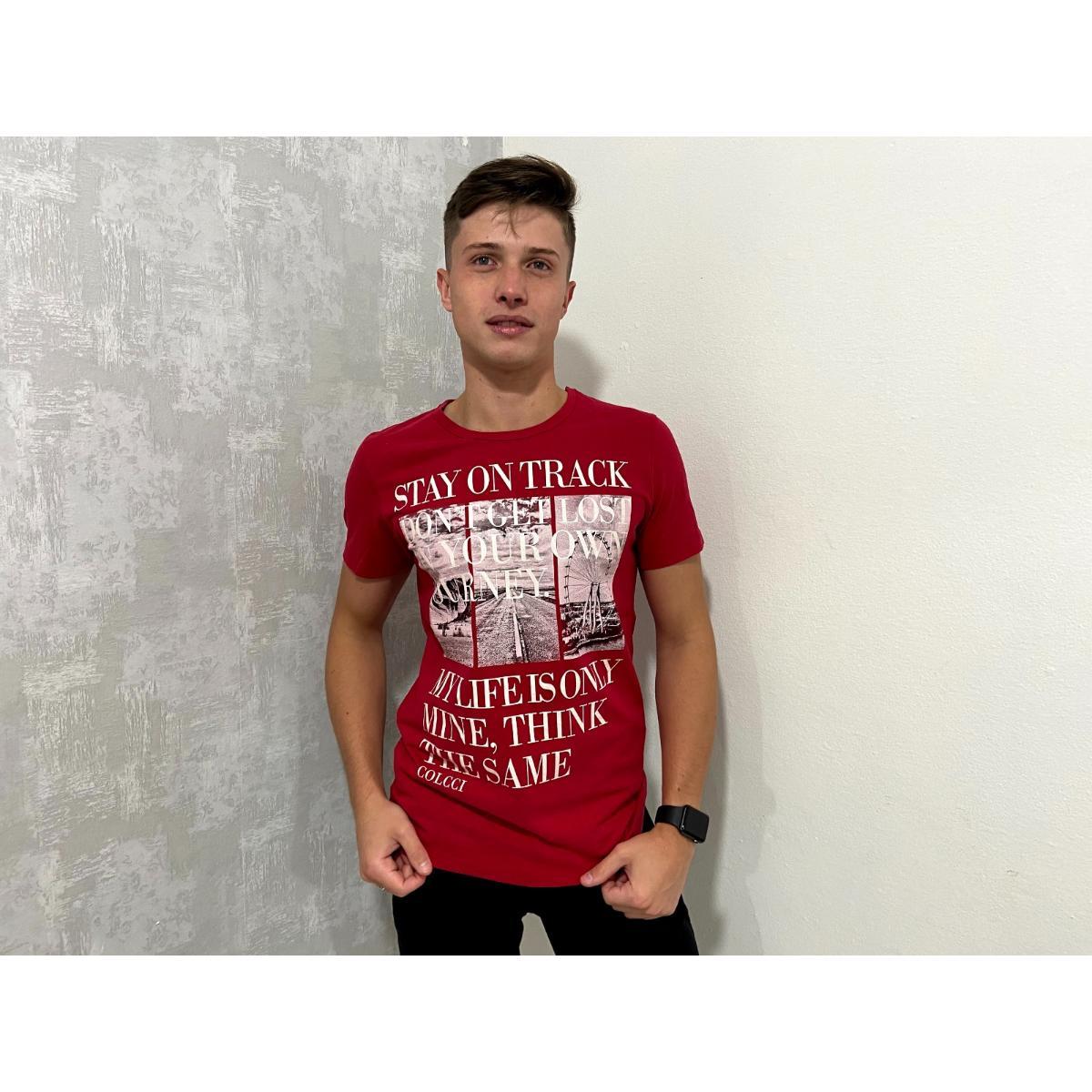 Camiseta Masculina Colcci 350107821 Vermelho