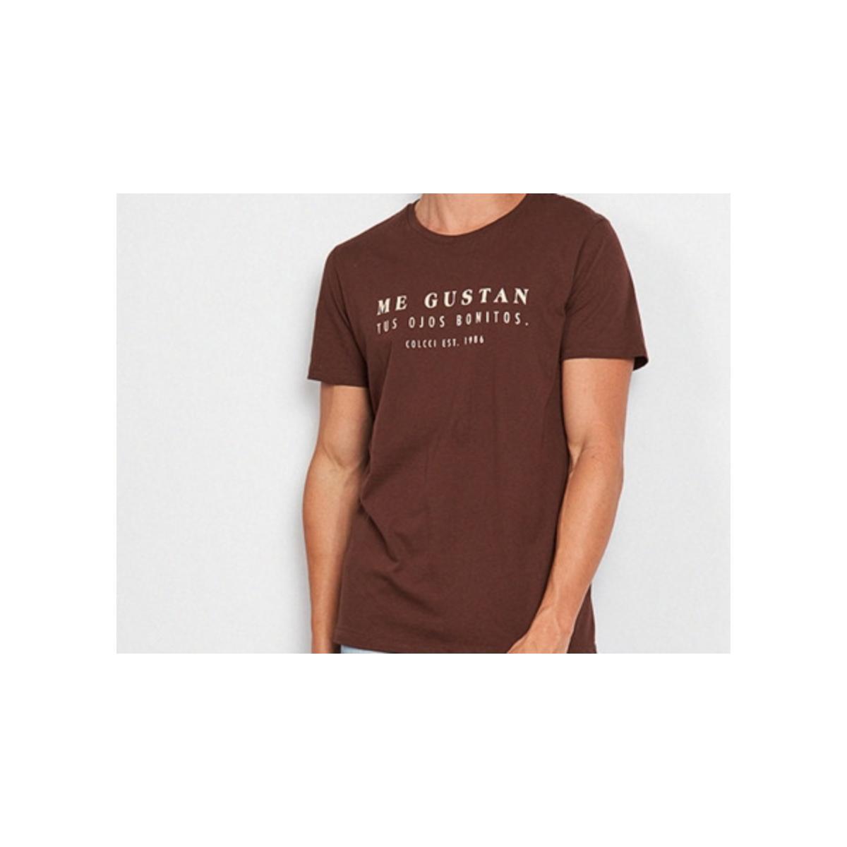 Camiseta Masculina Colcci 350109445 58801 Marrom