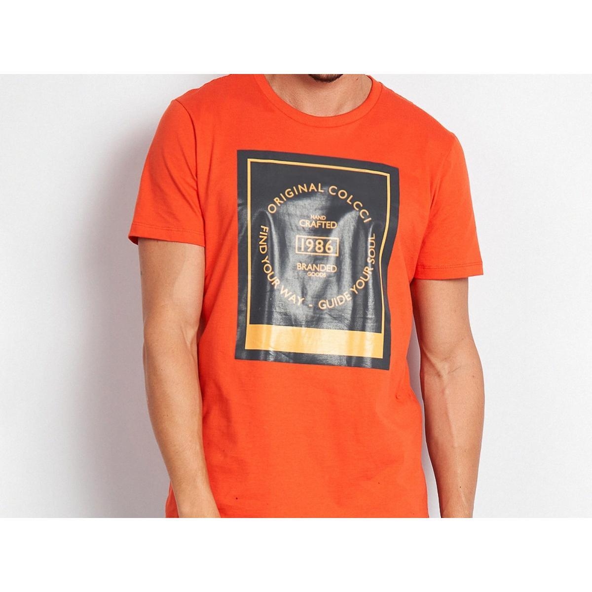 Camiseta Masculina Colcci 350109387 53708 Laranja