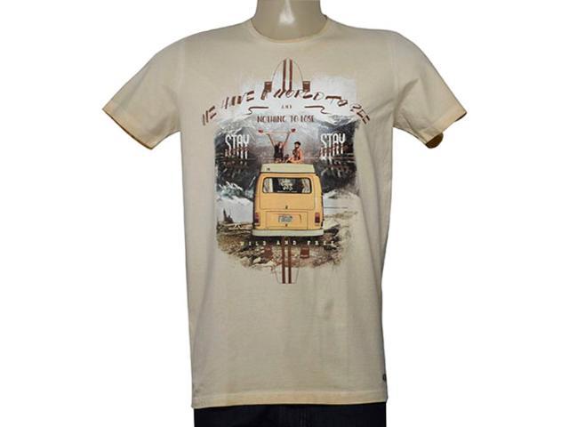 Camiseta Masculina Colcci 350107713 Bege Estampado