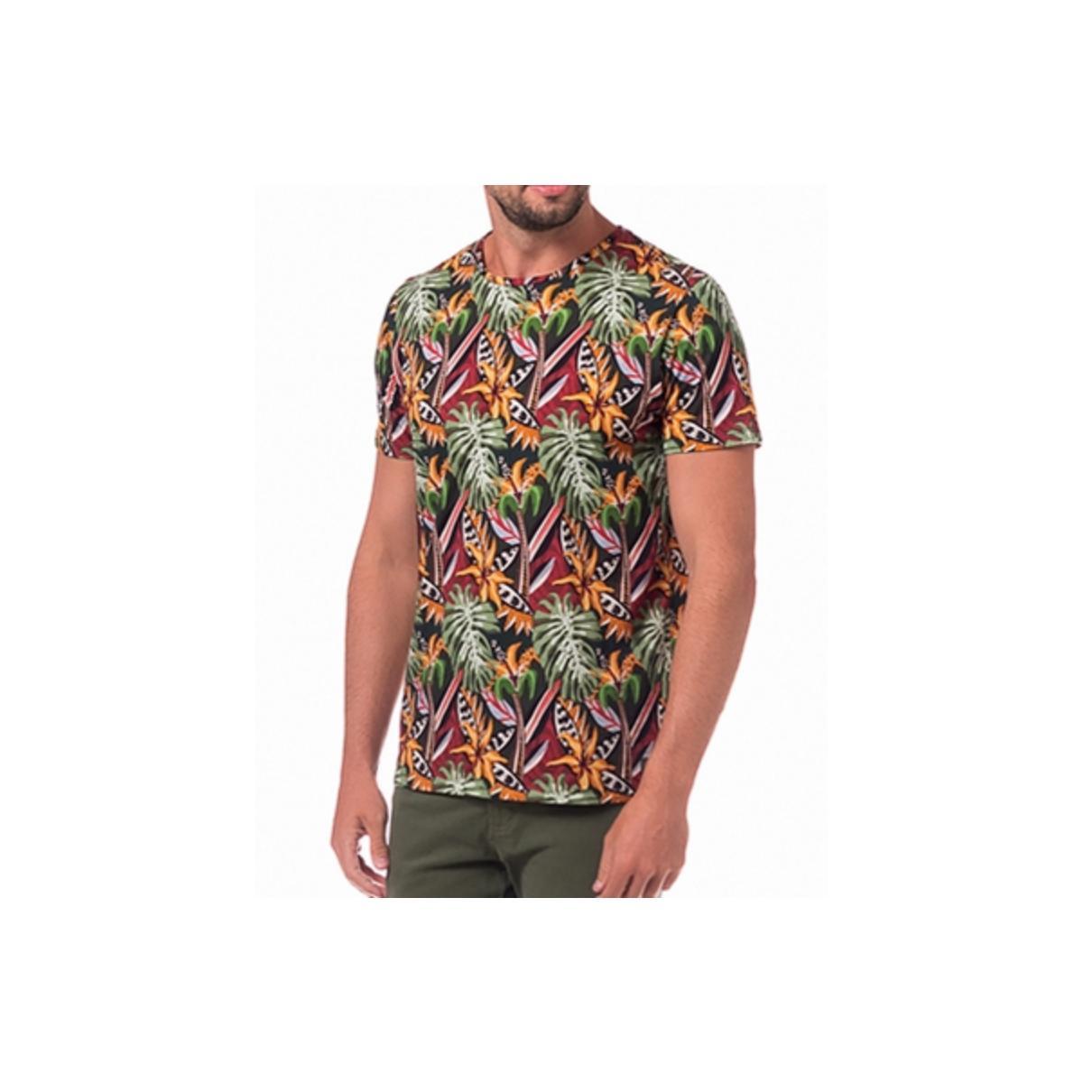 Camiseta Masculina Colcci 350109113 Vc27 Verde Estampada