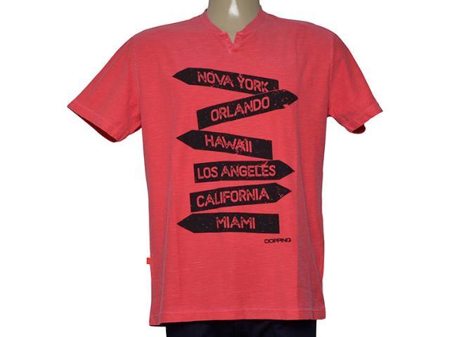 Camiseta Masculina Dopping  [015268590 Vermelho